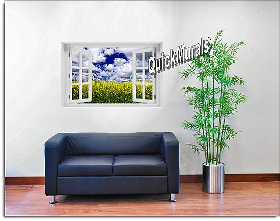 Waves of Grain Window Mural Roomsetting