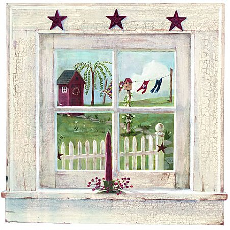 Outhouse Window Mural FK3994M