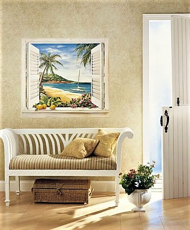 Tropical Window Mural NG8000M