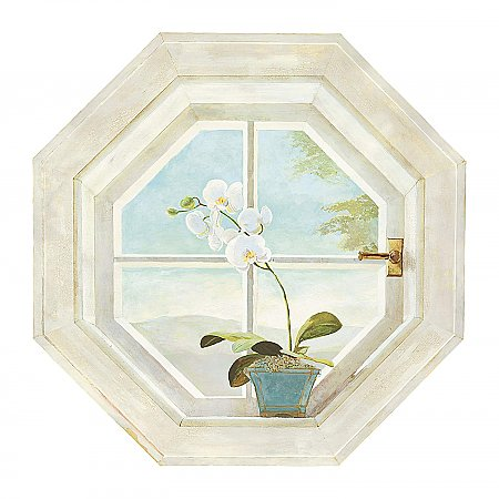 Orchid Window  Mural RV2670M