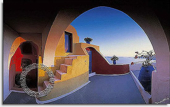 Santorini Archway Wall Mural