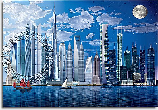 World's Tallest Buildings Wall Mural