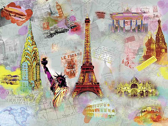 Around The World Wall Mural DM121
