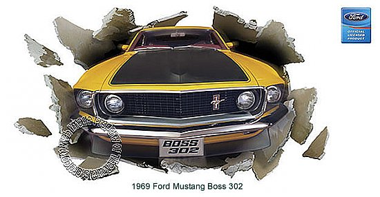 "1969 Ford Mustang Boss 302 ""Through The Wall"" 121842"
