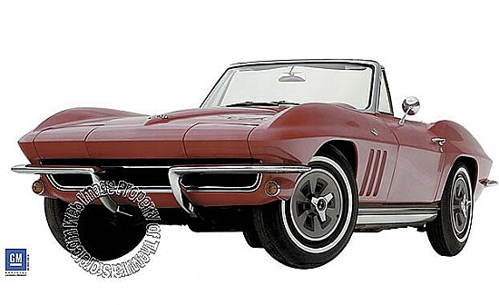 1965 Corvette Sting Ray Mural 122070