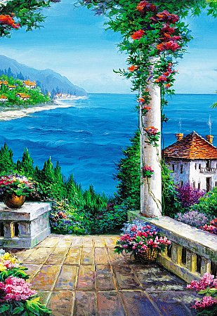 Floral Patio Wall Mural 4022