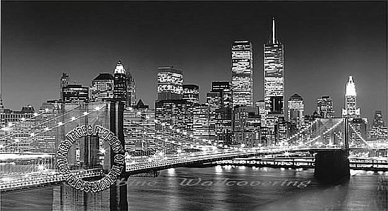 Brooklyn Bridge Wall Mural Black and White by Ideal decor