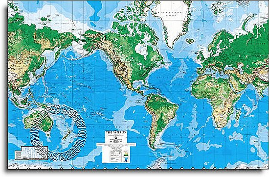 World Map Mural C810