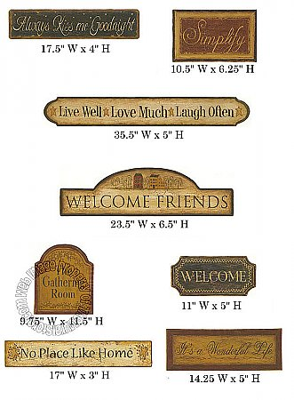 Country Accent Signs CT1920M