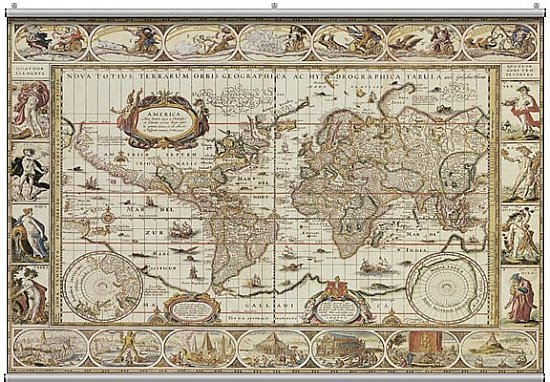 Antique Map 1 Minute Mural F1222