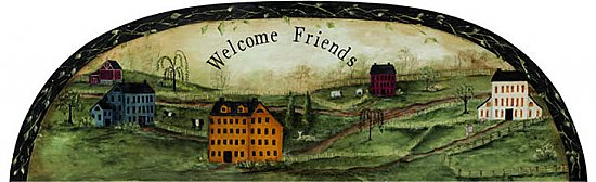 Welcome Friends Arch Mural