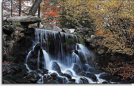 Autumn Waterfall Mural UMB91033