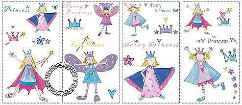 FAIRY PRINCESS PEEL & STICK WALL DECALS