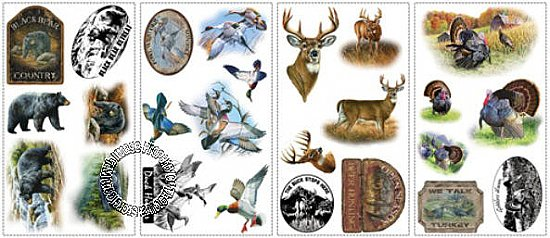 WILDLIFE MEDLEY PEEL & STICK WALL DECALS