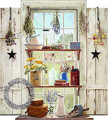Country Things WHT Mural HF8797M
