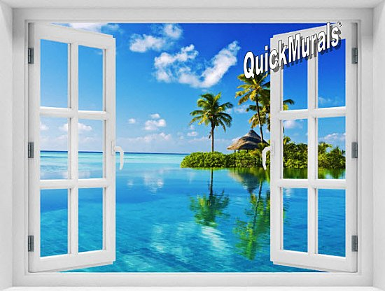 Oasis Window 1-Piece Peel & Stick Mural