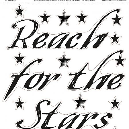 REACH FOR THE STARS PEEL & STICK SINGLE SHEET