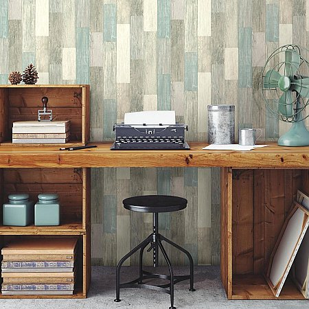 COASTAL WEATHERED PLANK PEEL & STICK WALLPAPER