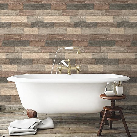 DARK WEATHERED PLANK PEEL & STICK WALLPAPER