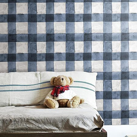 BUFFALO PLAID BLACK PEEL & STICK WALLPAPER