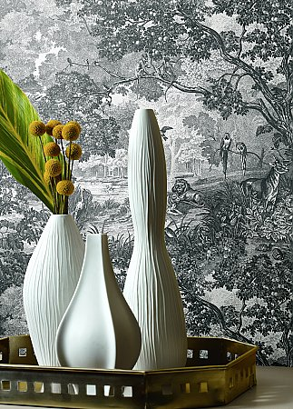 JUNGLE TOILE PEEL & STICK WALLPAPER