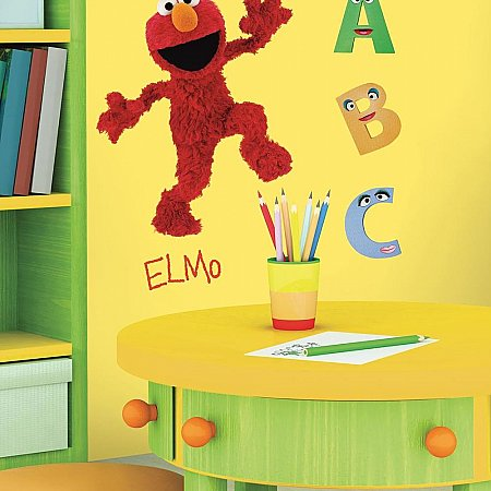 SESAME STREET ELMO PEEL & STICK GIANT WALL DECAL