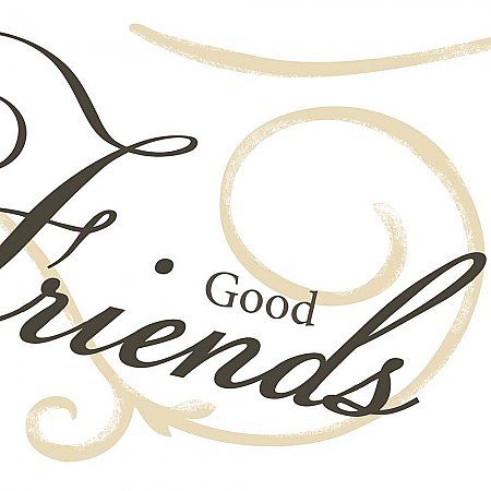 GOOD FOOD GOOD FRIENDS GOOD TIMES PEEL & STICK WALL DECALS