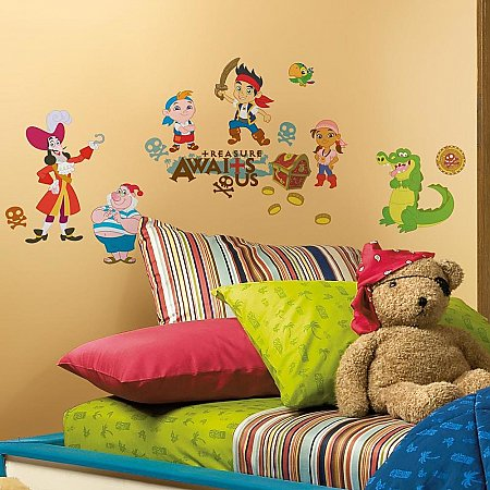 JAKE AND THE NEVER LAND PIRATES PEEL & STICK WALL DECALS