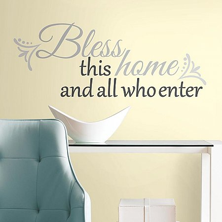 BLESS THIS HOME PEEL & STICK WALL DECALS