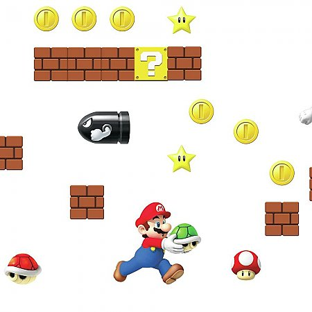 NINTENDO - SUPER MARIO BUILD A SCENE PEEL AND STICK WALL DECALS