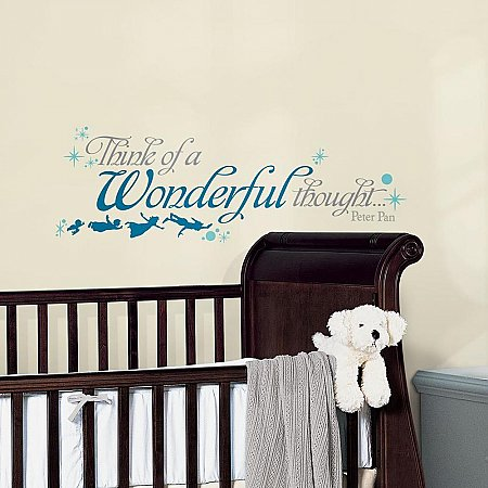 PETER PAN WONDERFUL THOUGHT PEEL AND STICK WALL DECALS