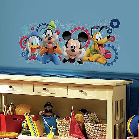 MICKEY MOUSE CLUBHOUSE CAPERS PEEL AND STICK GIANT WALL DECALS
