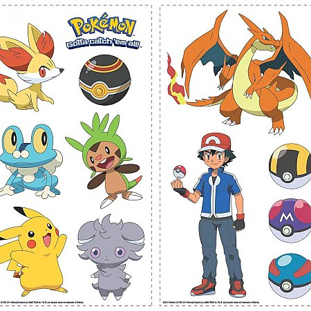 POKEMON XY PEEL AND STICK WALL DECALS