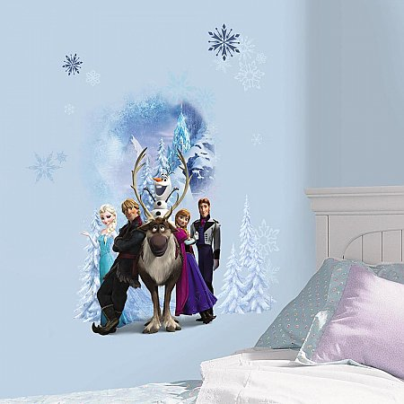 FROZEN  CHARACTER WINTER BURST PEEL AND STICK GIANT WALL DECALS