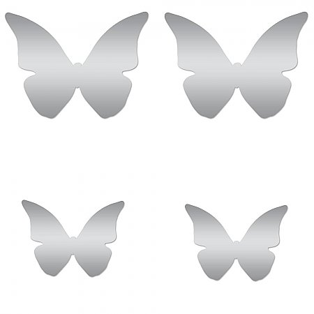 SCROLL SCONCE PEEL AND STICK WALL DECALS WITH BENDABLE BUTTERFLY MIRRORS