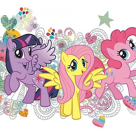 MY LITTLE PONY WALL GRAPHIX PEEL AND STICK GIANT WALL DECALS