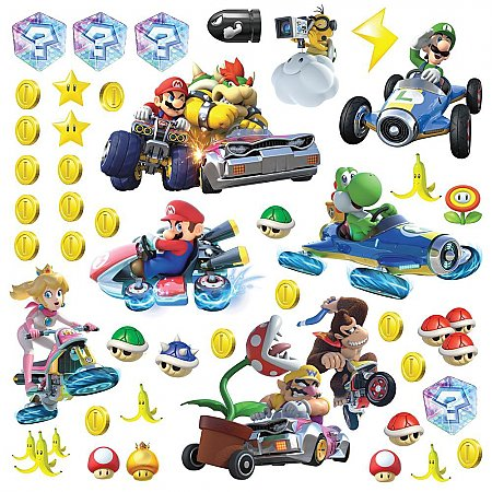 NINETENDO - MARIO KART 8 PEEL AND STICK WALL DECALS