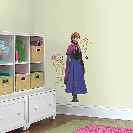 FROZEN'S ANNA WITH CAPE GIANT PEEL AND STICK WALL DECALS