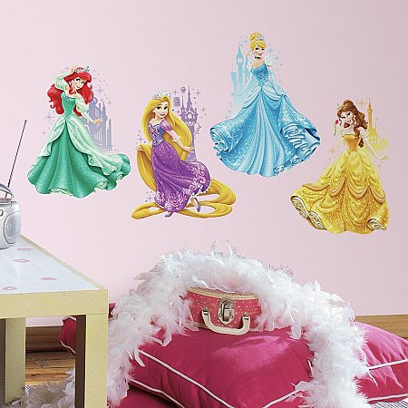 DISNEY PRINCESSES & CASTLES PEEL AND STICK GIANT WALL DECALS