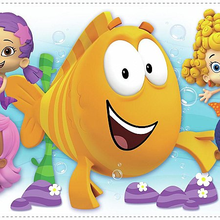 BUBBLE GUPPIES CHARACTER BURST PEEL AND STICK GIANT WALL DECALS