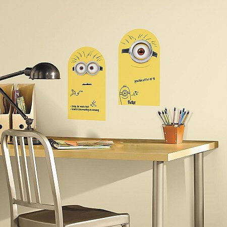 MINION DRY ERASE PEEL AND STICK WALL DECALS