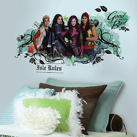 DESCENDANTS ISLE OF THE LOST PEEL AND STICK WALL GRAPHIC