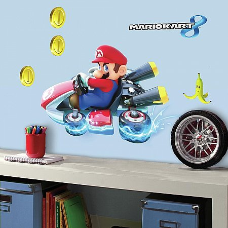NINTENDO - MARIO KART 8 PEEL AND STICK GIANT WALL DECALS
