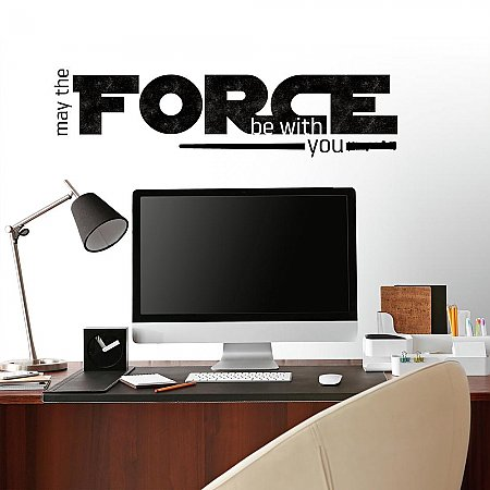 STAR WARS CLASSIC MAY THE FORCE P&S WALL DECALS