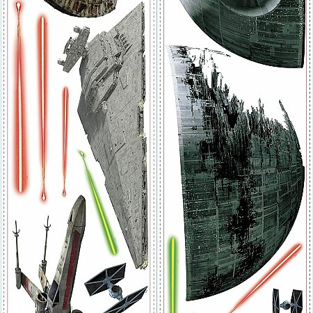 STAR WARS CLASSIC SPACESHIPS P&S WALL DECALS