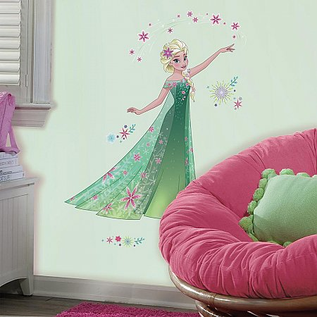 FROZEN  FEVER ELSA PEEL AND STICK GIANT WALL DECALS