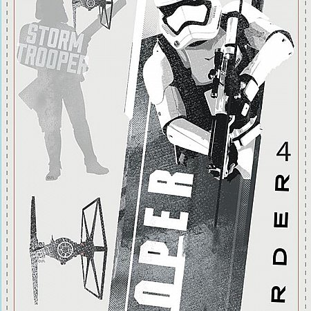 STAR WARS THE FORCE AWAKENS EP VII STORMTROOPERS P&S WALL DECALS