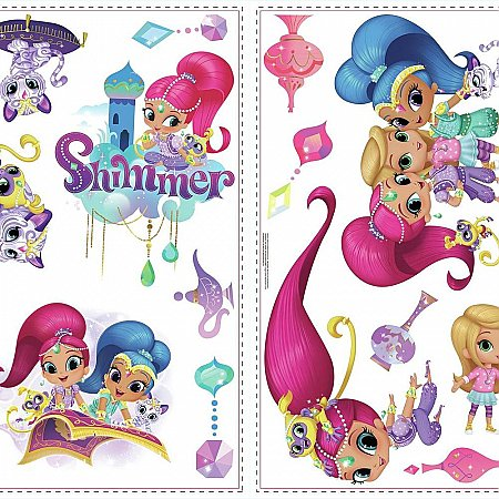 SHIMMER AND SHINE PEEL AND STICK WALL DECALS