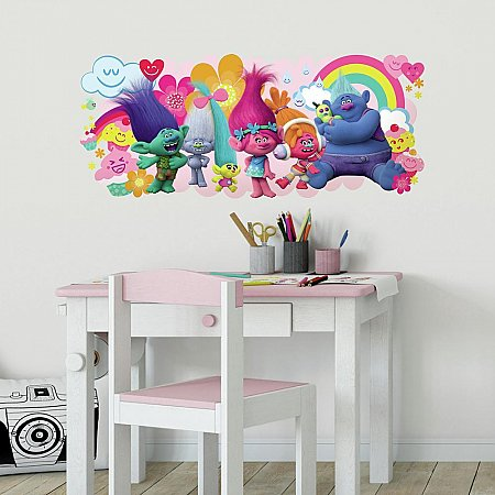 TROLLS MOVIE PEEL AND STICK GIANT WALL DECALS