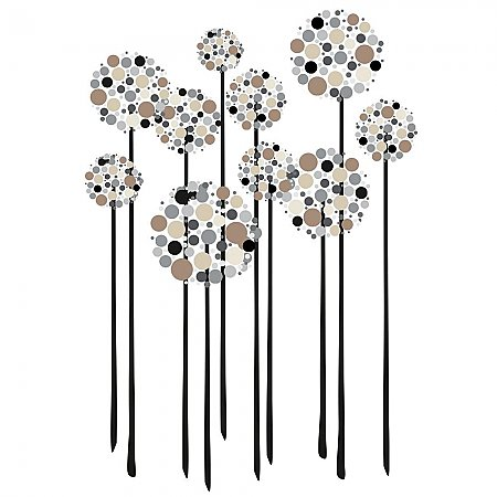 NEUTRAL FLORAL DOT PEEL AND STICK GIANT WALL DECALS